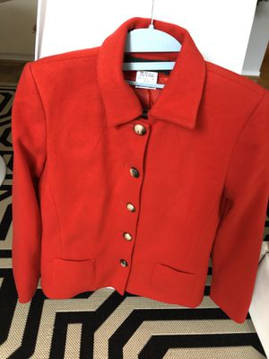 Women's Size 4 Red Wool Jacket, New for Sale in Reston, VA