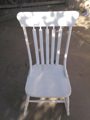 White chalked rocking chair for Sale in Fresno, CA