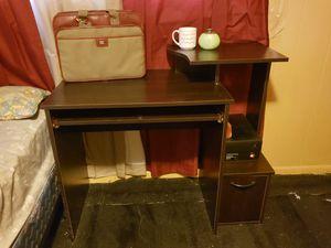 Black/Brown Wooden Study Desk for Sale in Elgin, IL