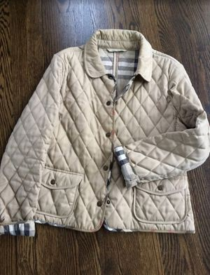 Authentic Burberry ladies quilted jacket Medium for Sale in Arlington Heights, IL