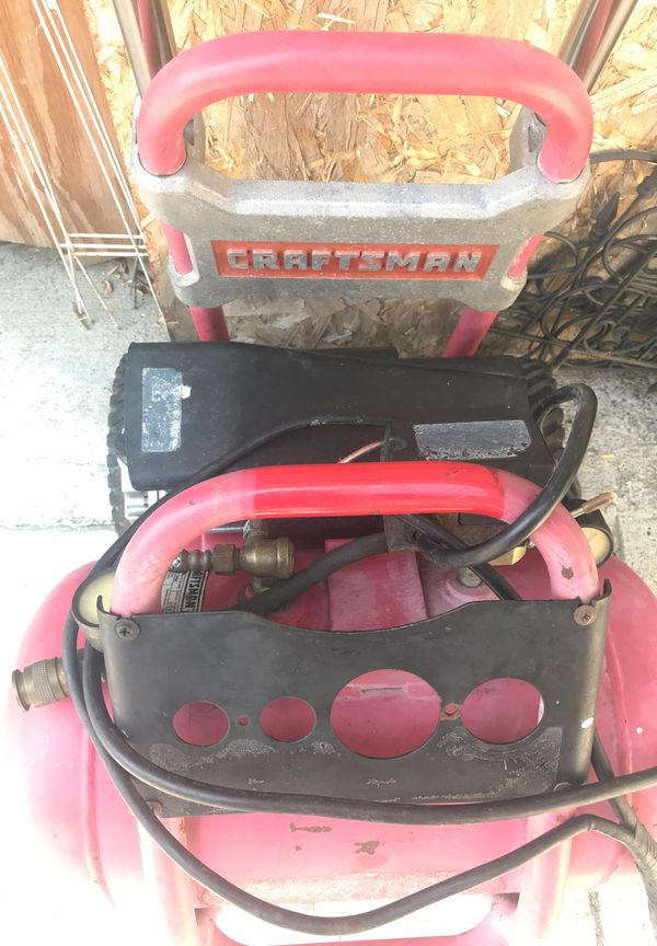 Craftsman Air Compressor 5 Gallons & Stand With Wheels (Read Description)