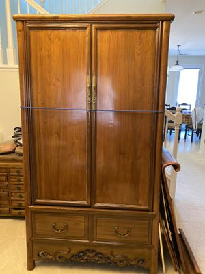 Antique Chinese rosewood cabinet armoire for Sale in San Jose, CA