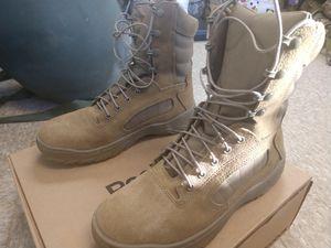 Reebok Work Men's 8' Fusion MAX CM8992 Soft-Toe Military Boot, Size: 10 M, Brown for Sale in Alexandria, VA