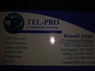 Tel-Pro Communications for Sale in San Angelo,  TX