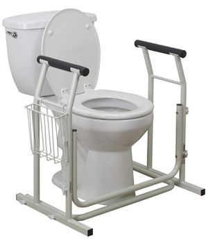 Vive Medical Stand Alone Toilet Safety Rail, White for Sale in Upland, CA