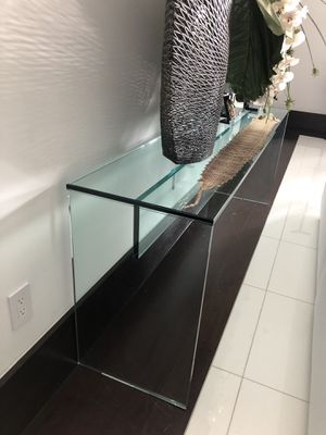 ARTEFACTO GLASS CONSOLE TABLE for Sale in Indian Creek, FL