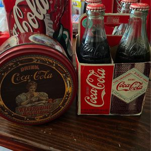Vintage Tin (1985) 4 Pack Bottled Coca Cola (2008) for Sale in Norridge, IL