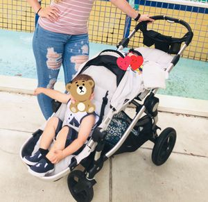 Baby jogger city select double stroller with bassinet for Sale in Miramar, FL