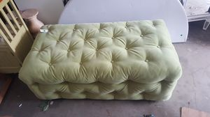 Spring green ottoman/bench for Sale in Portland, OR
