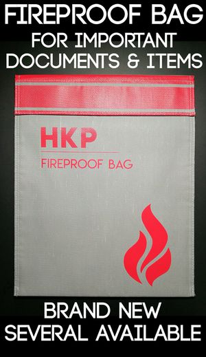 Fireproof Bag for Storage of Important Documents Deeds, Titles, Travel, Legal Docs, Certificates, Major Purchase Receipts Bank Bolsa a prueba de fuego for Sale in Rancho Cucamonga, CA