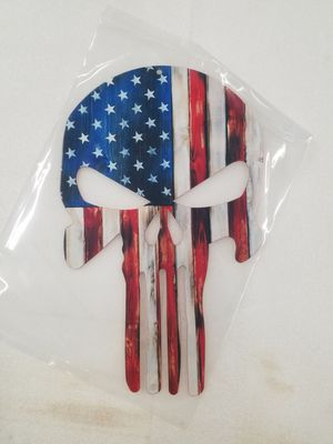 Flag colored punisher skull heavy steel metal sign for Sale in Vancouver, WA