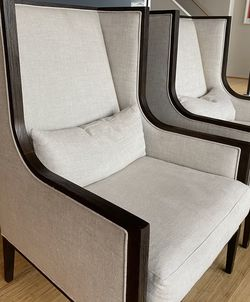Restoration Hardware French Contemporary Slope Arm Wingback Chair - 2500 For Pair (will Sell Individually) for Sale in Kirkland,  WA