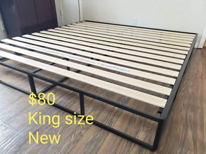 Platform bed frame king size. Brand new. Free delivery. $80 for Sale in Modesto, CA
