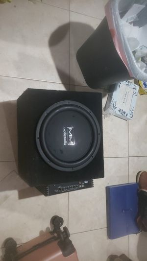 12inch polk audio subwoofer and amp for Sale in Homeland, CA