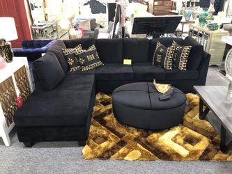 Black Velvet Sectional PAQB for Sale in Irving,  TX