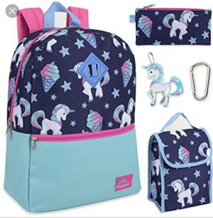 Trailmaker 5 in 1 Full Size Character School Backpack and Lunch Bag Set For Girls for Sale in Ormond Beach, FL