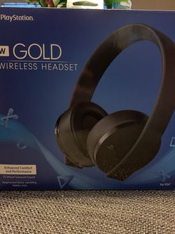 PlayStation Gold Wireless Headset for Sale in Corona,  CA