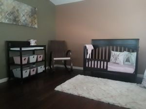 Delta 4 in 1 convertible crib with changing table and rocking chair for Sale in Antioch, CA