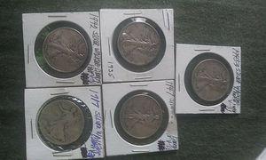 1917, , 1942, 1945-D, 1947 walking liberty half dollars for Sale in Waukee, IA