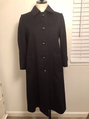 Vintage Burberry Women's Virgin Wool Coat Size 4 for Sale in Alameda, CA
