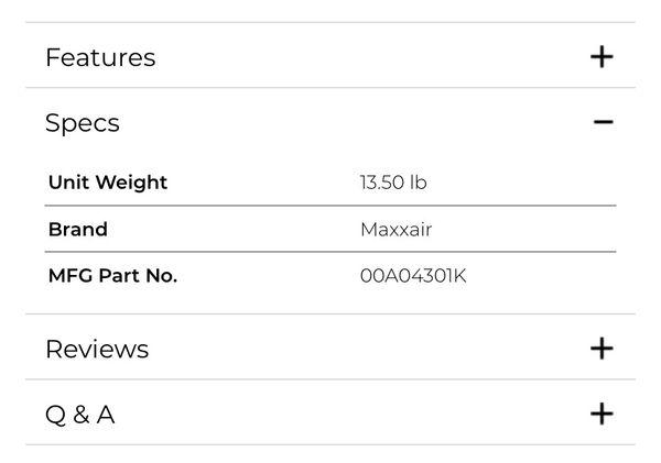 Maxxfan 4-Speed Vent Fan/ MaxxAir