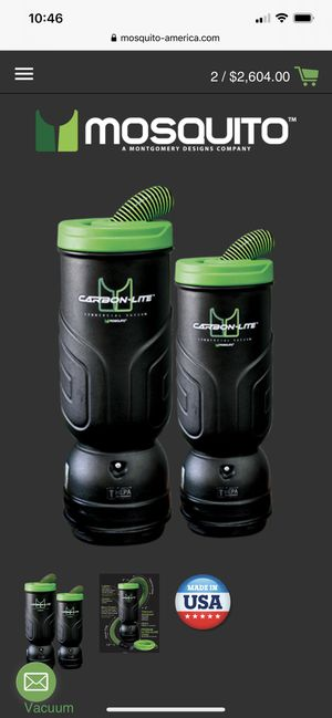 Mosquito carbon lite backpack vacumm 6qt capacity $280 for Sale in Villa Park, CA