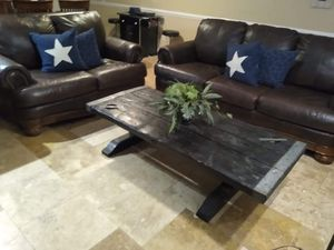 FREE DELIVERY ESPRESSO 100%TOP GRAIN LEATHER SOFA AND LOVESEAT!!! for Sale in Tampa, FL