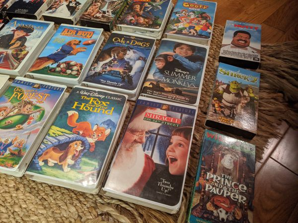Disney and Movie VHS Movies