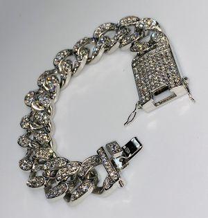 22k stainless steel Miami Cuban bracelet for Sale in Las Vegas, NV
