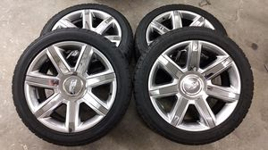 """22"""" Cadillac Escalade OEM chrome wheels rims tires 4739 2015 2016 2017 for Sale in Groveport, OH"""