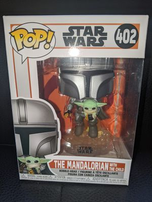 Funko Pop Star Wars THE MANDALORIAN #402 with The Child Vinyl Figure Collectible Bobblehead Toy Doll Disney for Sale in San Diego, CA
