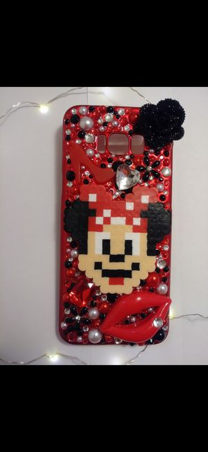 Handmade Minnie Mouse Perler Bead Samsung Galaxy s8 Plus Phone Case for Sale in Cleveland, OH