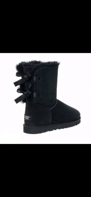 UGG Black Bailey Suede Bow II Boots for Sale in Las Vegas, NV