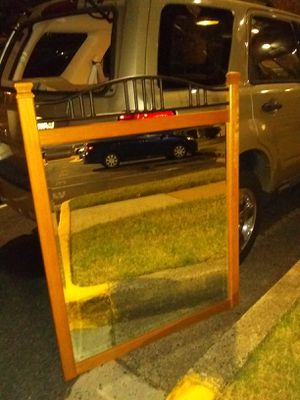 Large wooden wall mirror 50x40 for Sale in Alexandria, VA