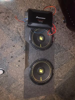 Kicker subwoofer and pioneer amp for sale brand new. Nothing wrong for Sale in Washington, DC