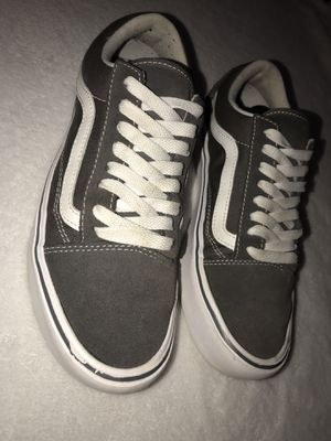 Vans - gray and white for Sale in La Vergne, TN