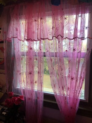 PINK BUTTERFLY CURTAINS FORSALE for Sale in Marietta, GA