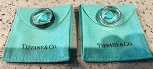 Tiffany & Co. (2) Sterling Silver & Titanium Rings Size 9 for Sale in Phoenix, AZ