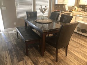 Table, chairs, and bench for Sale in Phoenix, AZ