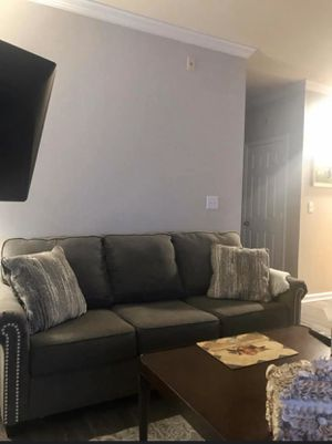 Grey couch for Sale in Ashburn, VA