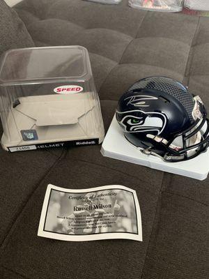 Authentic Seattle Seahawks Russell Wilson autograph Speed Riddell mini helmet for Sale in Wenatchee, WA