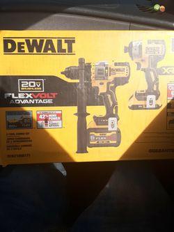 Dewalt 20v Flex Volt Advantage Brushless Impact Hammer Drill Set Brand New $399 for Sale in Parkland,  WA