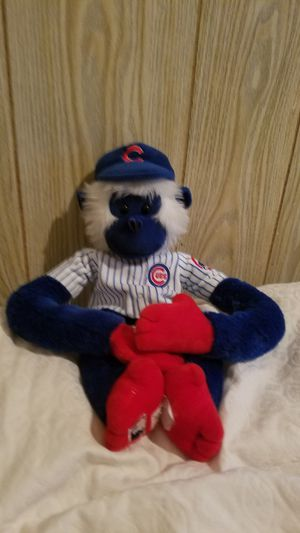 "Forever Collectibles Hanging Monkey Plush Chicago Cubs Blue 19"" Long Stuffed for Sale in Brookfield, IL"