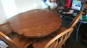 Solid oak dining table for Sale in VLG LOCH LOYD, MO