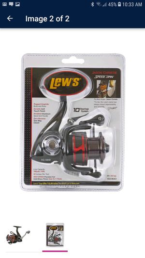 Lew's High Speed Premium 10 Ball Bearing Stainless-Steel Spinning Fishing Reel for Sale in Glendale, AZ