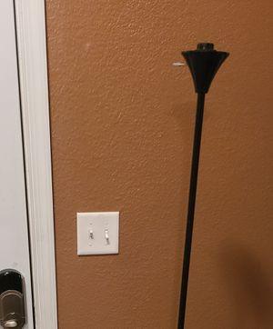 Black floor lamp no shade for Sale in Norfolk, VA
