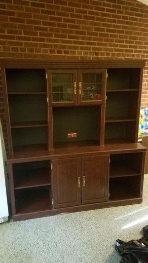 Beautiful Cherry Wood Desk w/ Hutch for Sale in Gary, IN