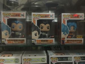 Dragon Ball Z POPS Super Saiyan God Super Saiyan Vegeta (GameStop Exclusive), Vegeta (GameStop Exclusive), and Super Saiyan God Super Saiyan Goku (Ho for Sale in Selma, CA