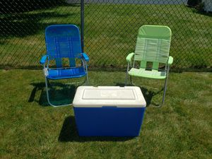 Outdoor Chairs & Cooler for Sale in Waltham, MA