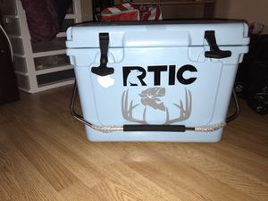 Brand new RTIC cooler with decal on it for Sale in NORTH DINWIDDIE, VA